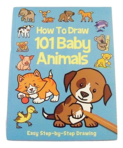 Educational How to Draw Book ~ Baby Animals (101 Baby Animals from Around the World; - Outline Cat Eye