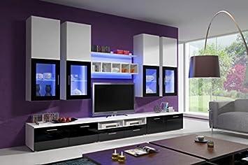 muebles bonitos mueble de saln teresa negro y blanco 3 m - Muebles Bonitos