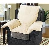 Luxury Chair Nest with a Cream FLEECE Cover - Armchair / Furniture / Wheelchair Cushion - Super Warm & Cosy