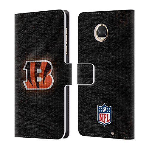 Official NFL LED 2017/18 Cincinnati Bengals Leather Book Wallet Case Cover For Motorola Moto Z2 Play - Cincinnati Bengals Book Cover