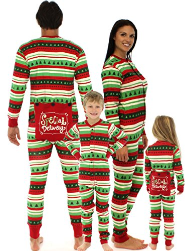 Family Christmas Onesie Pajamas.Lazy One Special Delivery Infant Flapjacks 12 Months