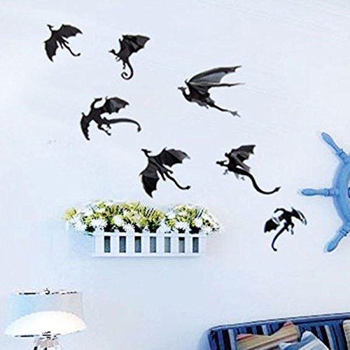 Hosaire Stickers Muraux Autocollants Vif Motif de Chat Autocollants  Décoration Murale pour Cuisine Chambre Maison Bricolage 7ec3175b5015