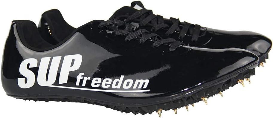 SupFreedom - Zapatillas de Pista y Campo de Microfibra para Atletismo, Carreras, Correr, Carreras, Tenis, Negro (Negro), 39.5 EU: Amazon.es: Zapatos y complementos