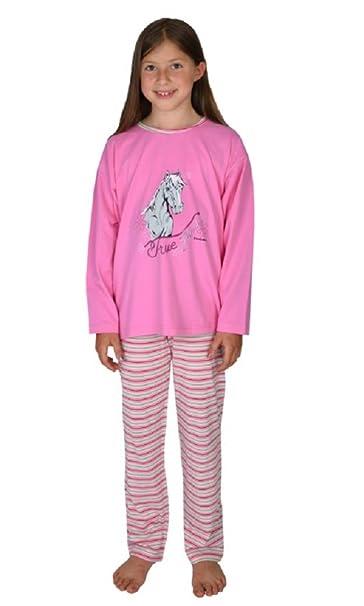 Wörner Mädchen Shorty kurzer Schlafanzug Pferd rosa