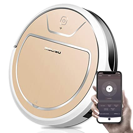 MOLISU V8S Pro Robot Vacuum Cleaner with APP Remote Control, 2000Pa Strong Suction System,