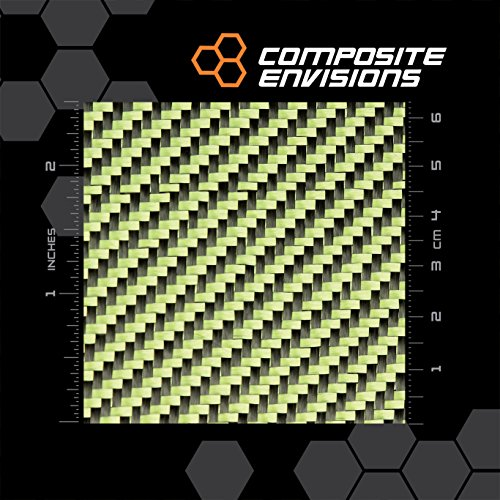 CARBON FIBER/YELLOW KEVLAR FABRIC 2X2 TWILL 50