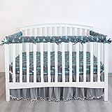 3-Piece Baby Woodland Crib Rail Cover Protector Set