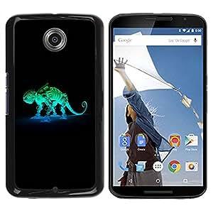 Carcasa Funda Prima Delgada SLIM Casa Case Bandera Cover Shell para Motorola NEXUS 6 / X / Moto X Pro / Business Style Robot Mech Chameleon
