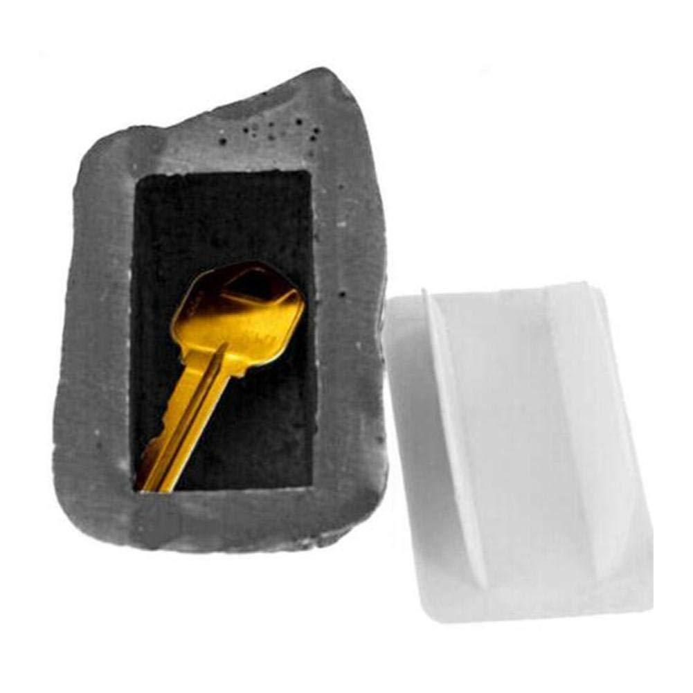 Caja de Almacenamiento de Llaves Caja de Llaves Cajas Fuertes Camufladas Seguro Caja de Almacenamiento 6 3 Se Disfraza Como Una Piedra Ordinaria Conveniente de Usar Durable en Uso 8 Cm