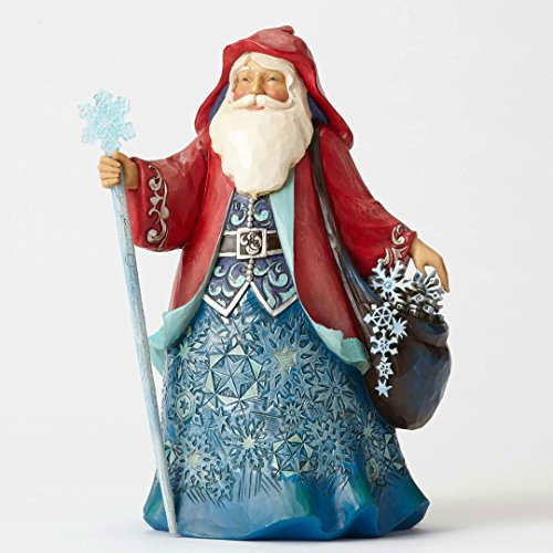 Enesco Jim Shore Heartwood Creek Wonderland Santa w Snowflakes 9.75 in Figurine