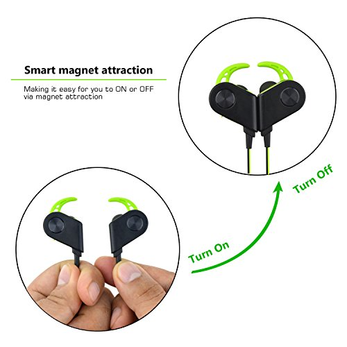 firstop magnetic sweatproof wireless bluetooth 4 1 earbuds headphones with mi. Black Bedroom Furniture Sets. Home Design Ideas
