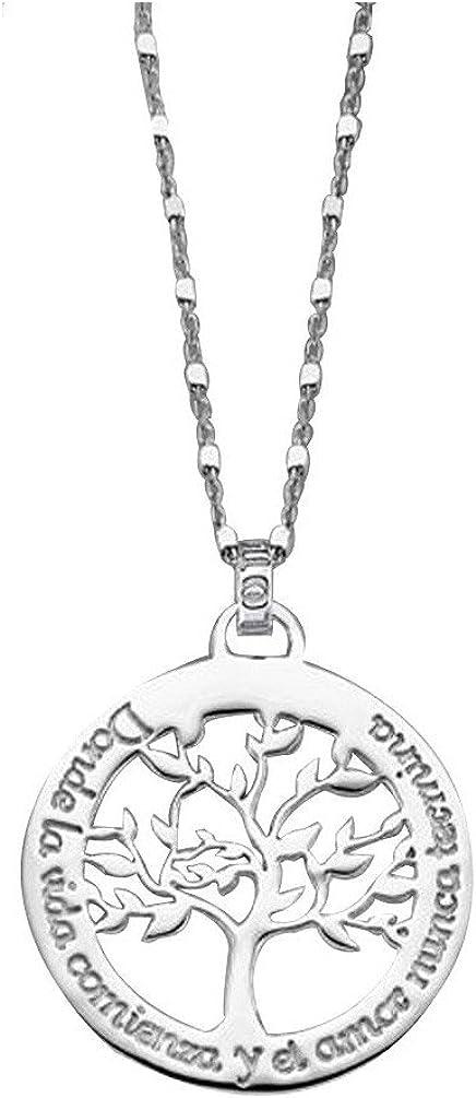 Collar Lotus Silver LP1641-1/1 Árbol de la vida Plata de ley