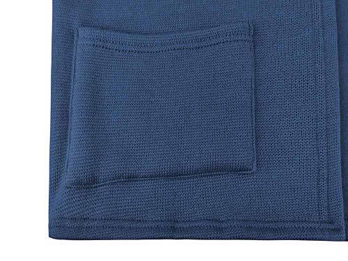 Pullover Capuche Sweatshirt Tops Hoodie Blouson À Blouse Devant Femme Hiver Longues Décontracté Manches Chaud Ouvert Veste Bleu Manteau Mode Shobdw Simple Zfqx67f