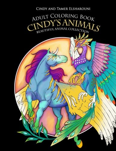 Cindy Animals Adult Coloring Book: Beautiful Animal Collection