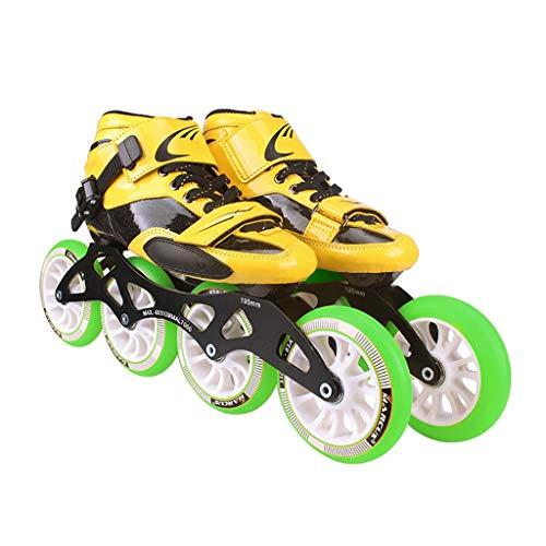マインドシャトル意味するNUBAOgy インラインスケート、直径90-110 Mmの高弾性PUホイール、調整可能なインラインスケート、4色 (色 : Green, サイズ さいず : 39)