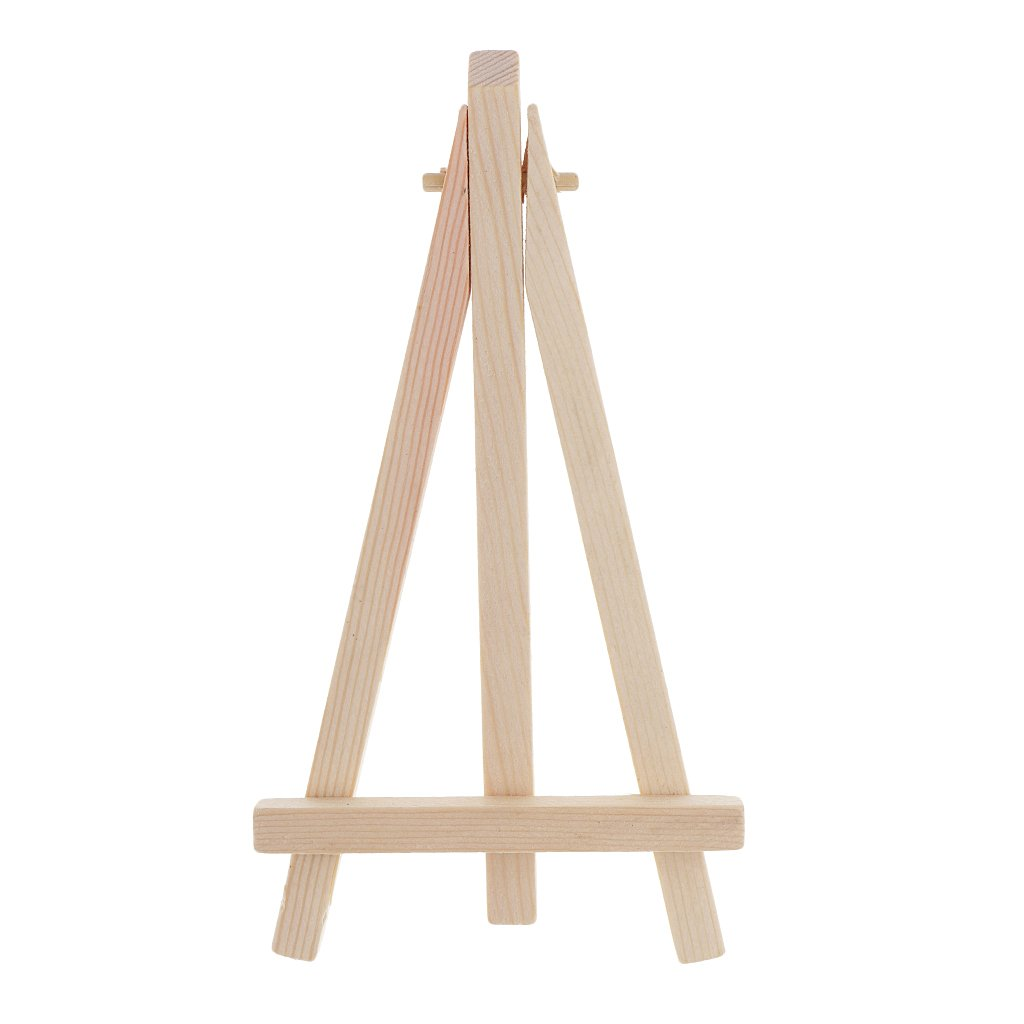 6.1 x 2.95 inch SM SunniMix Set of 10Pcs Mini Wood Easel Display Stand Wooden Cafe Table Number Easels Wedding Place Name Card Holder Stand