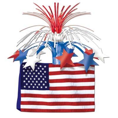 - Patriotic American Flag Centerpiece 13 In., Pkg/3