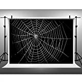 Maijoeyy 10x6.5ft Photography Backdrop Background Halloween Spider Web Photo Background for Studio No Wrinkle Photography Props 151934447-B2