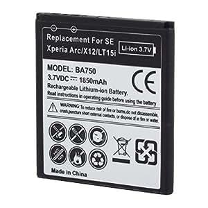 Reemplazo de la batería 1850mAh Negro para SONY BA750 Smartphone