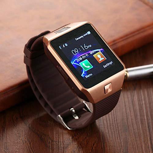 Aipker Smart Watches with SIM Card Slot Bluetooth Notification (DZ09 Gold)