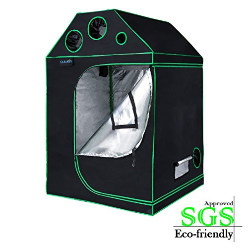 $139.99 best indoor grow tent Quictent SGS Approved Eco-Friendly 48″x48″x71″ Roof Cube Grow Tent Reflective Mylar Hydroponic with Obeservation Window and Waterproof Floor Tray for Indoor Plant Growing 4'x4' 2019