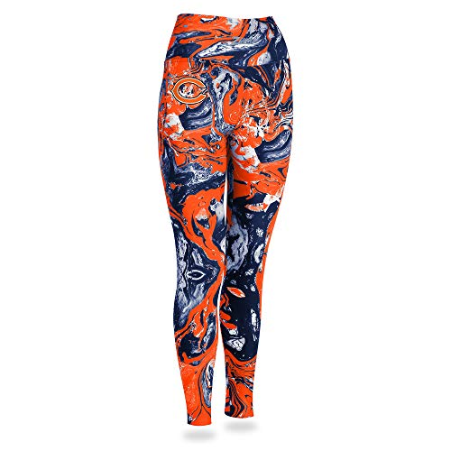 Zubaz NFL Chicago Bears Women's Swirl Leggings, Multicolor, -