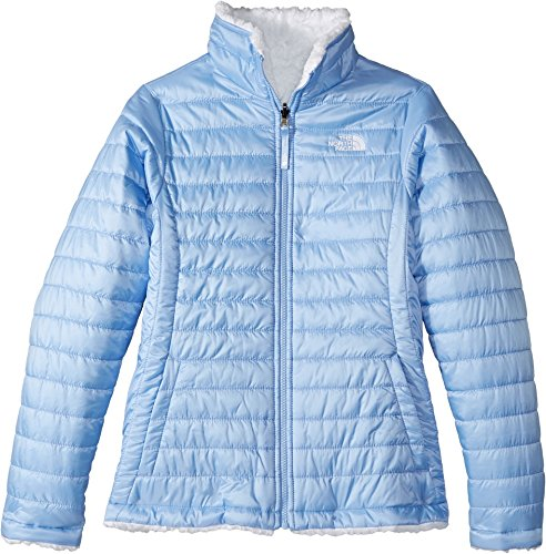 The North Face Kids Girl's Reversible Mossbud Swirl Jacket (Little Kids/Big Kids) Collar Blue - Face Face Big Small