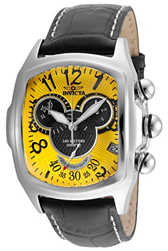 Invicta Men's 'Disney Limited Edition' Quartz Stainless Steel and Leather Casual Watch, Color:Black (Model: 24524) -  886678297030