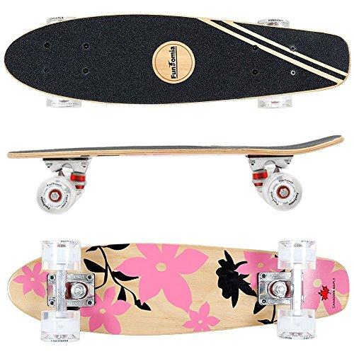 FunTomia® Mini-Board Skateboard aus kanadischem Ahornholz inkl. ABEC-11 MACH1® Kugellager in verschiedenen Farben zur Auswahl