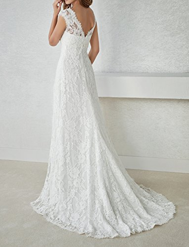 9753afa8b2 Zhongde Empire Maternity Two Pieces Cap Sleeves Bridal Gown Wedding ...
