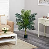 Nearly Natural 5357 4ft. Golden Cane Palm Tree,Green