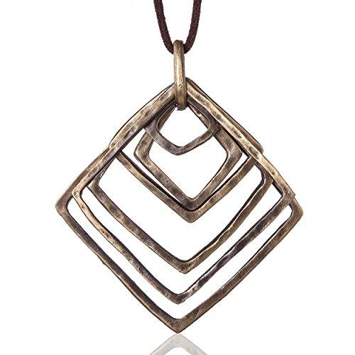 Coostuff Woman Jewelry Statement Necklaces & Pendants Vintage Long Necklace Women Colar Choker