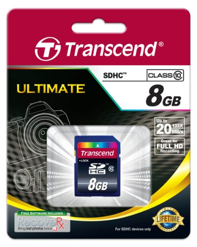 Transcend 8GB Class 10 SDHC Card (TS8GSDHC10) 2 Compatible with all sdhc-labeled host devices (not compatible with standard SD) Rohs compliant Easy to use, plug-and-play operation