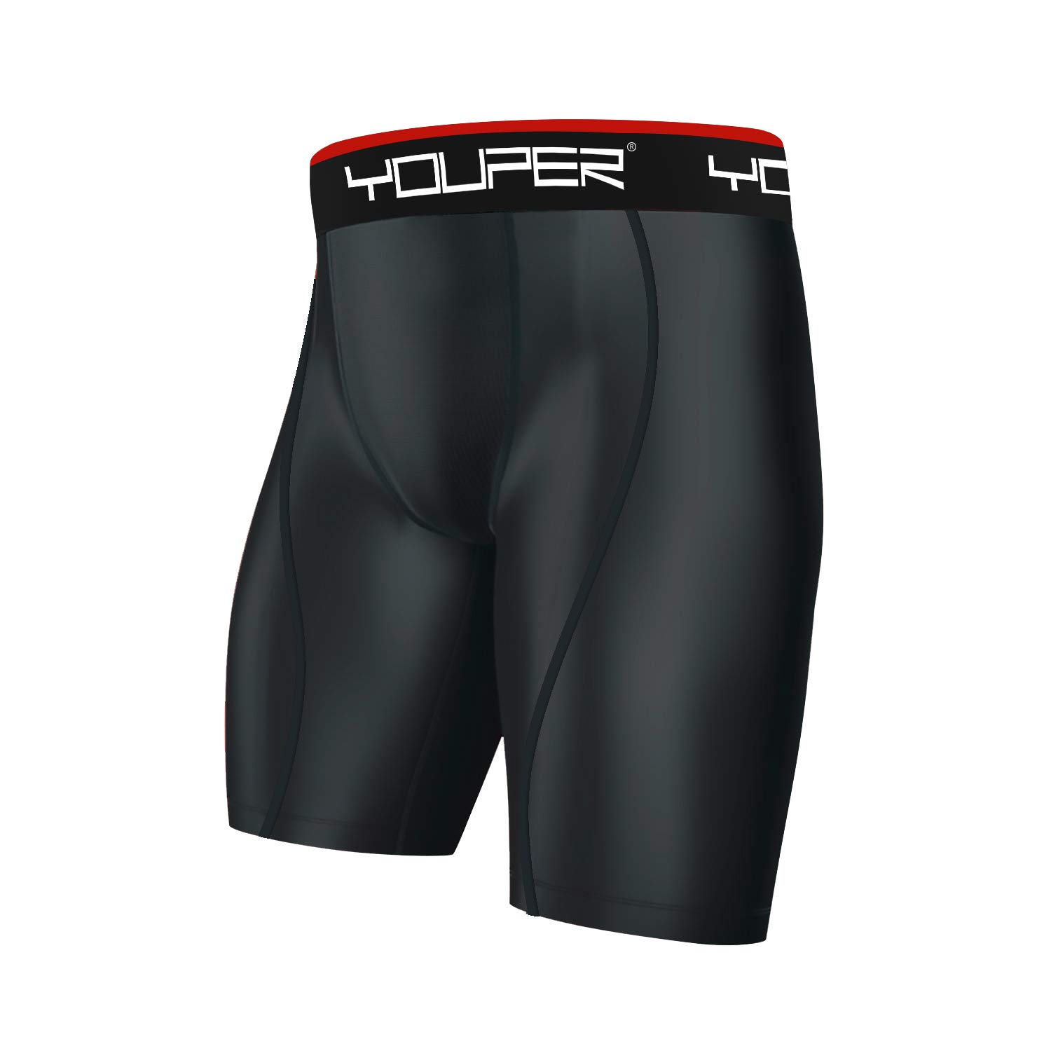 Compression Shorts w//Cup Pocket Youper Athletic Supporter Youth /& Adult Sizes