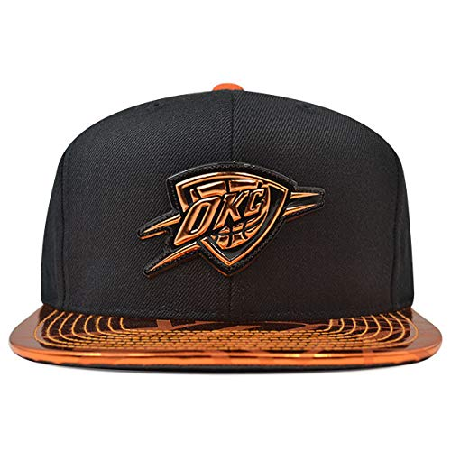 Mitchell & Ness Oklahoma City Thunder TEAM STANDARD Snapback NBA Adjustable Hat - Black, Orange