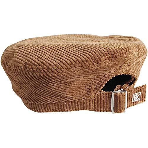 Corduroy Beret Hats Women...