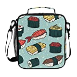 Cartoon Sushi Lunch Box Tote Reusable Insulated School Cooler Bag