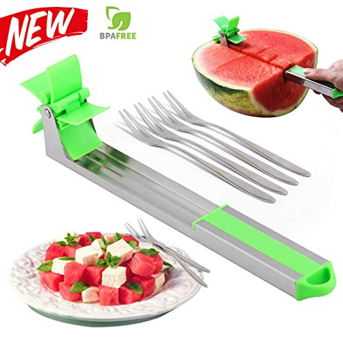 GIRIAITUS Watermelon Slicer cutter,2019 New Style Melon Slicer Knife Cutter Stainless Steel Tool for Kitchen Gadgets