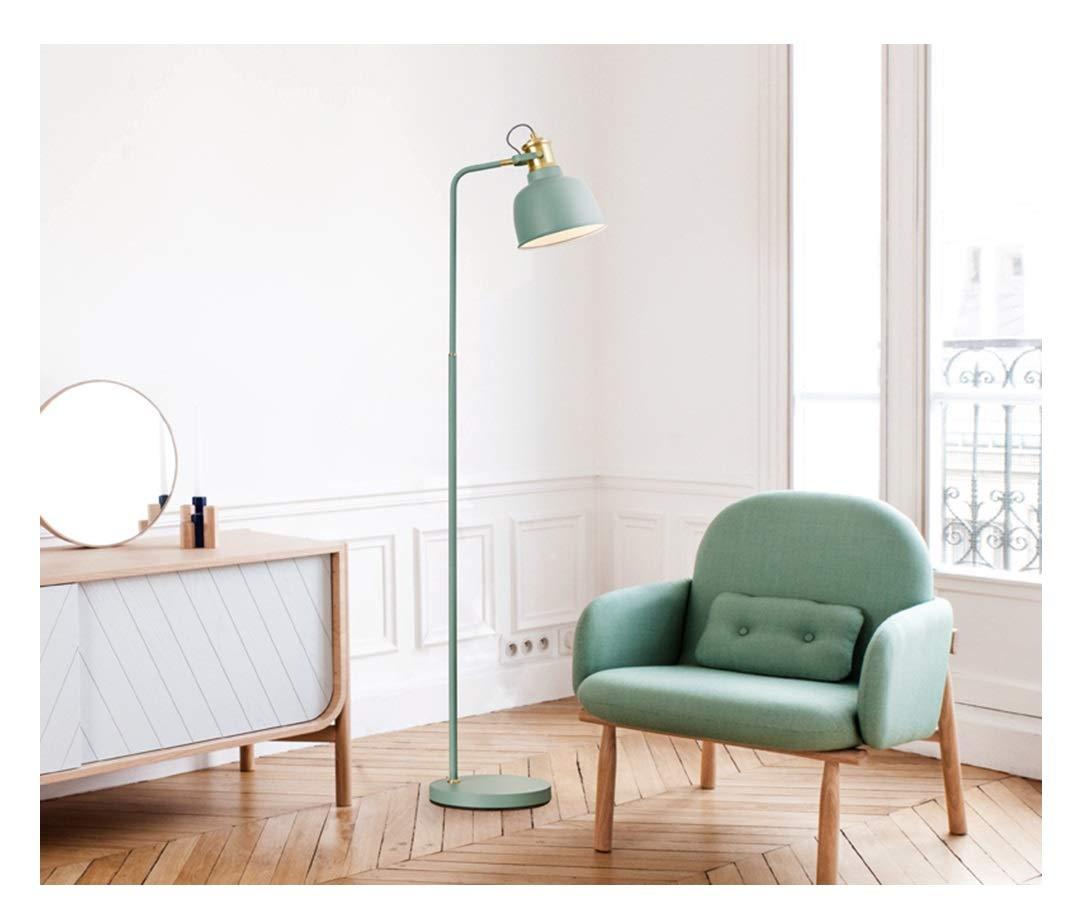 WUYAO Stehlampe Wohnzimmer Sofa Studie Schreibtisch Augenschutz Beleuchtung - blau/weiß - kreative vertikale Tischlampe der einfachen Art und Weise Stehlampe (Farbe : Blau)