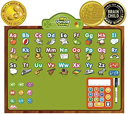 BEST LEARNING i-Poster My Learning Board - Educational Posters for  Preschoolers & Toddlers 3 to 6 Years Old - ABC Alphabet Preschool Toddler  Kids -