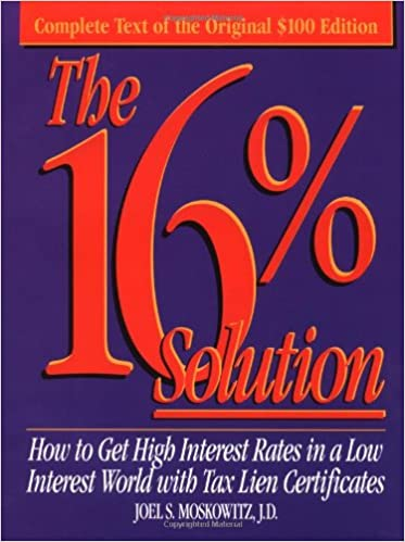 book 16percent solution by joel moskowich