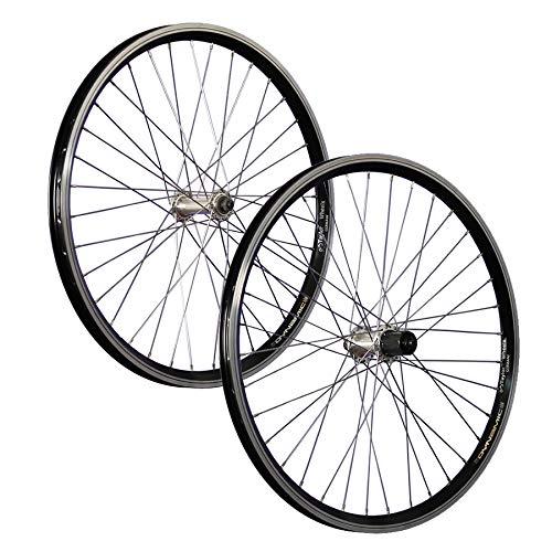 Taylor-Wheels 24 Zoll Fahrrad Laufradsatz Dynamic 4 TX500 7-10 schwarz