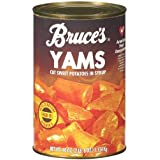 Bruce's, Yams, Cut Sweet Potatoes in Syrup,40oz Can (Pack of 2) (Choose Can Sizes Below) (40oz Can)