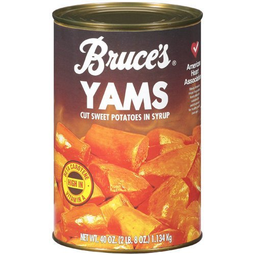 Bruce's, Yams, Cut Sweet Potatoes in Syrup,40oz Can (Pack of 2) (Choose Can Sizes Below) (40oz Can) Canned Sweet Potatoes