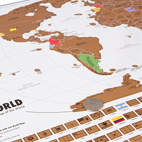 Scratch map world unique scratch off map travel gift with flags save gumiabroncs Gallery