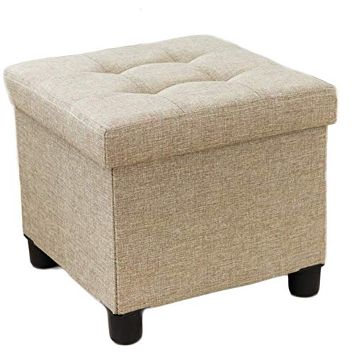 Environmentally Friendly and Tasteless, Storage Stool, Stereo Osman Dressing Table Stool with Soft Cushion for Living Room, Bedroom, Office, College Dormitory, Room,Rugged Load Carrying Capacity