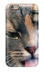 Special Donald P Reed Skin Case Cover For Iphone 6, Popular Gray Cat Drinking Water From The Sink Phone Case