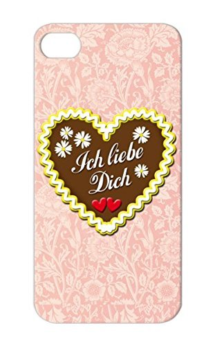Lebkuchen Ich Liebe Dich Gingerbread Dirndl Liebe Brown Bavaria Love You Valentine's Day Valentine Munich Flowers Lovers Germany Oktoberfest Wedding Holidays Occasions Hearts Case Cover For Iphone 5