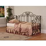 "Powell Salem Daybed - ""Distressed Pewter"" & ""Mottled Black Textured"" Overlay with Rub-Through Accents"