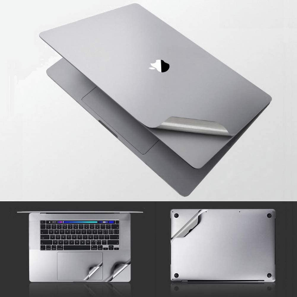 MacBook Pro 15 Touch Bar A1990 A1707, Space Grey Full Body 3M Film Vinyl Skin Decals Sticker Case Keyboard Cover Screen Protector Stealth Armor 6-in-1 for MacBook Pro 13 15 inch Touch Bar